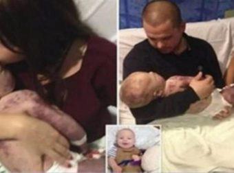 Πήραν αγκαλιά το κορμάκι του παιδιού τους και αποφάσισαν να φωτογραφηθούν. Ο λόγος; Θα σας κάνει να δακρύσετε…