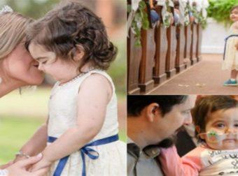 3χρονη νίκησε τον καρκίνο και  έγινε παρανυφάκι στον γάμο της δότριας μυελού των οστών της
