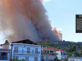 Μεγάλη φωτιά στην Αχαΐα: Εκκενώνονται χωριά, κάηκαν σπίτια. «Φύγετε προς Αίγιο»